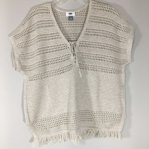 Old Navy Boho Crochet Poncho Top